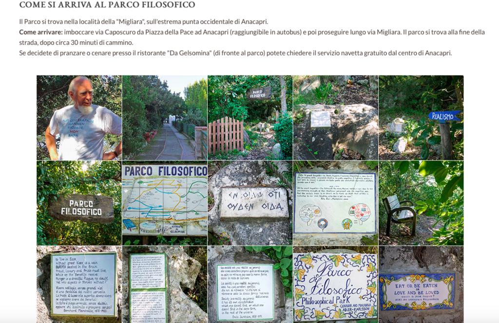 Park filozoficzny – zrzut ekranu ze strony www.philosophicalpark.com