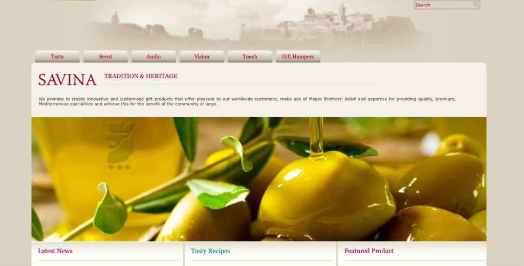Zrzut ekranu ze strony internetowej Savina Creations.