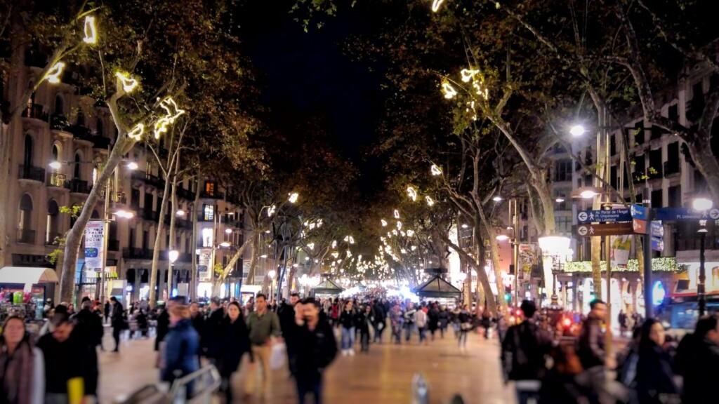 Dekoracje świąteczne wBarcelonie. Fot.: Gosia Villatoro