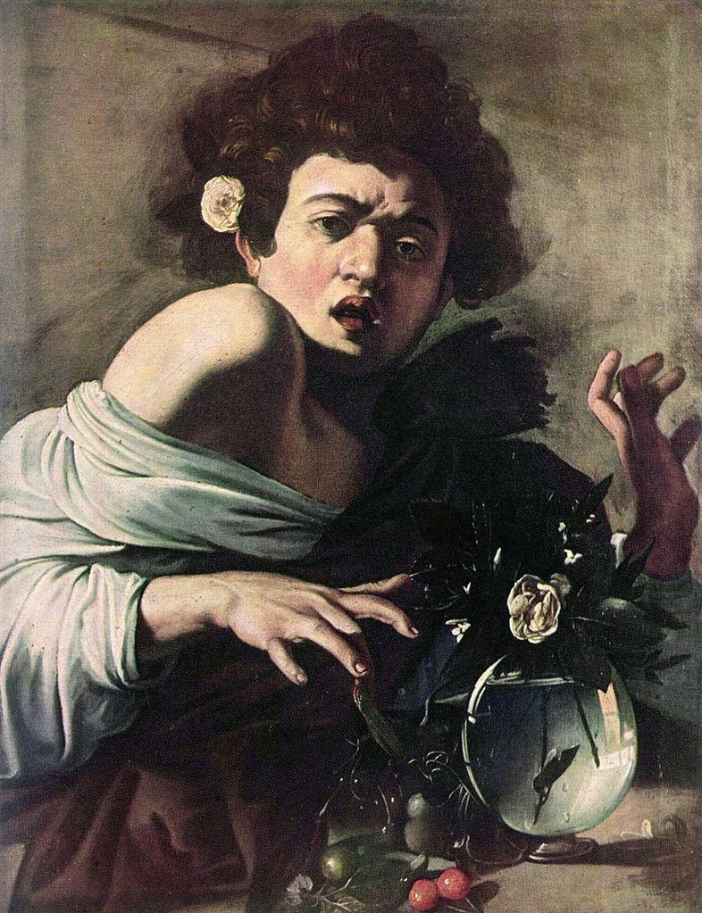 Chłopiec ugryziony przez jaszczurkę, 1593–1594, National Gallery wLondynie