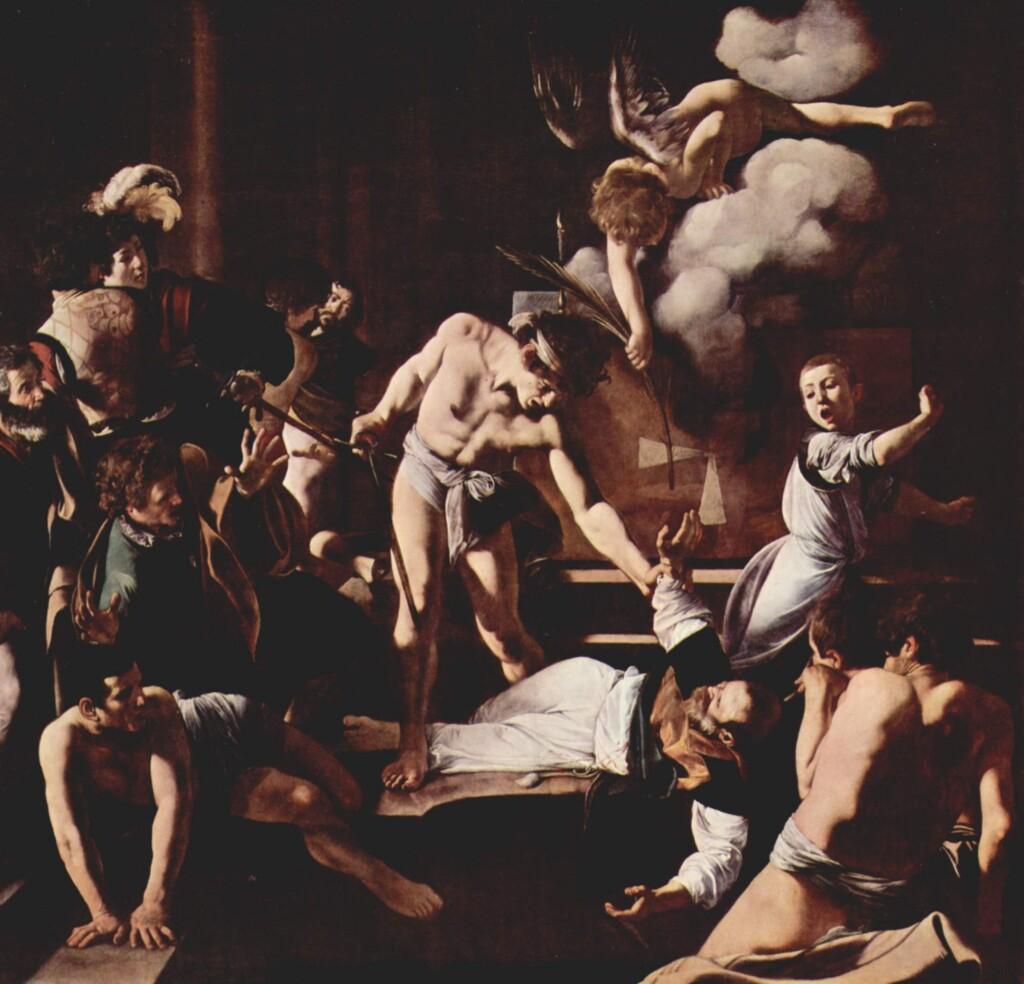 Męczeństwo św. Mateusza, 1599–1600, kościół św. Ludwika Króla Francji wRzymie