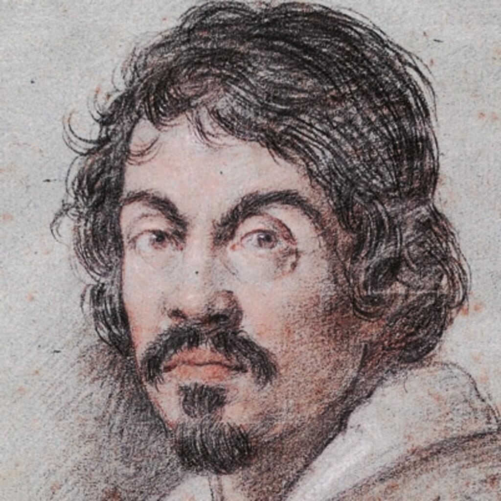 Portret Caravaggia stworzony przez Ottavia Leoniego, ok. 1621, Biblioteca Marucelliana we Florencji