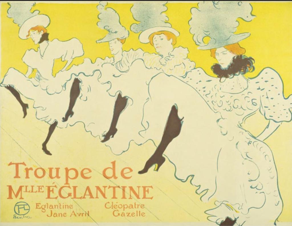 La Troupe de Mademoiselle Églantine 1896 Color Lithography, 61,7x80,4 cm © Herakleidon Museum, Athens Greece
