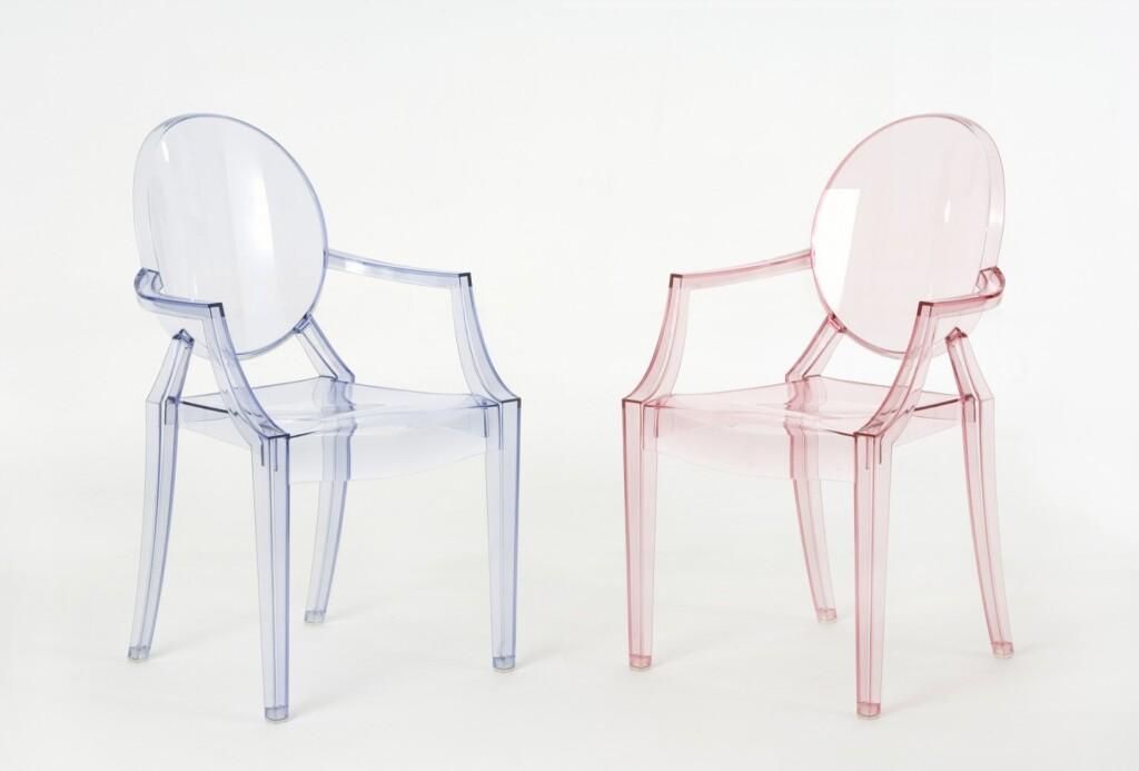 Krzesła Lou Lou Ghost. Fot. Kartell – materiały prasowe
