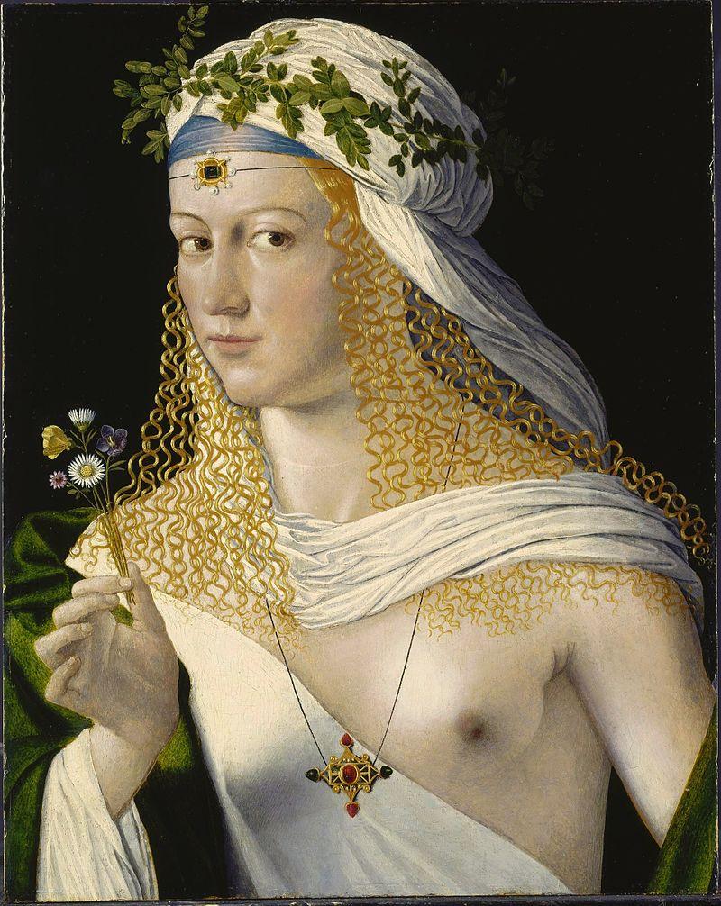 Jeden zportretów Lukrecji autorstwa Bartolomea Veneto