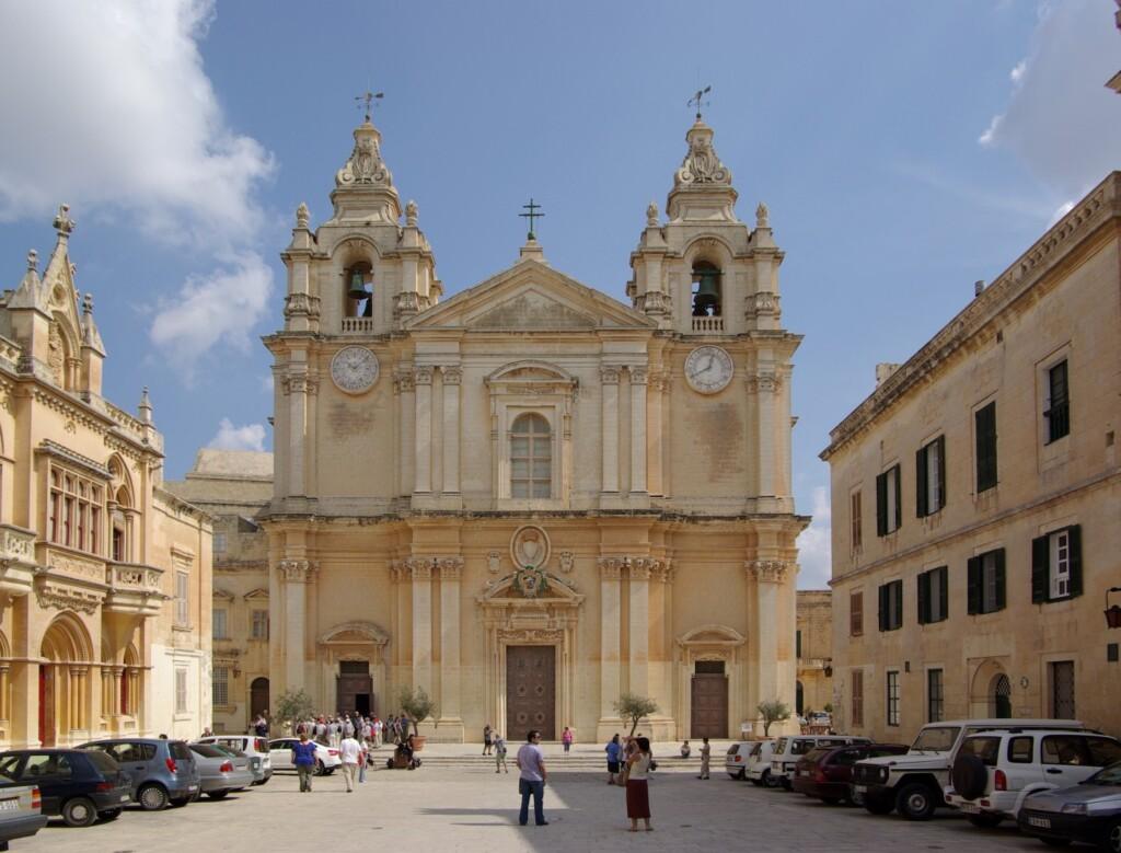 Katedra św. Pawła wmaltańskiej Mdinie. Fot. Berthold Werner / Wikipedia Commons GNU Free Documentation License