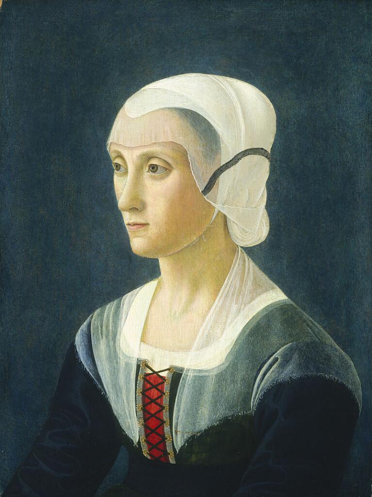 Portret Lukrecji Tornabuoni pędzla Domenica Ghirlandaia (XVI w.)