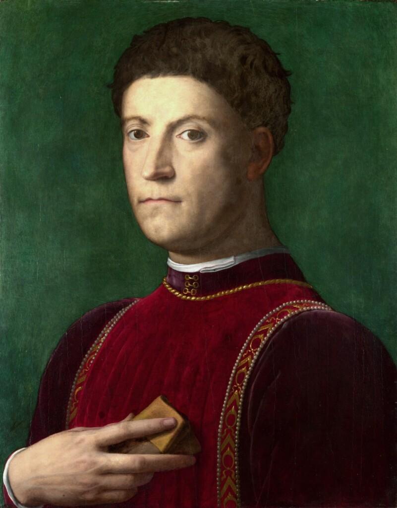 Portret Piera de' Medici pędzla Agnola Bronzina (1550–1570).