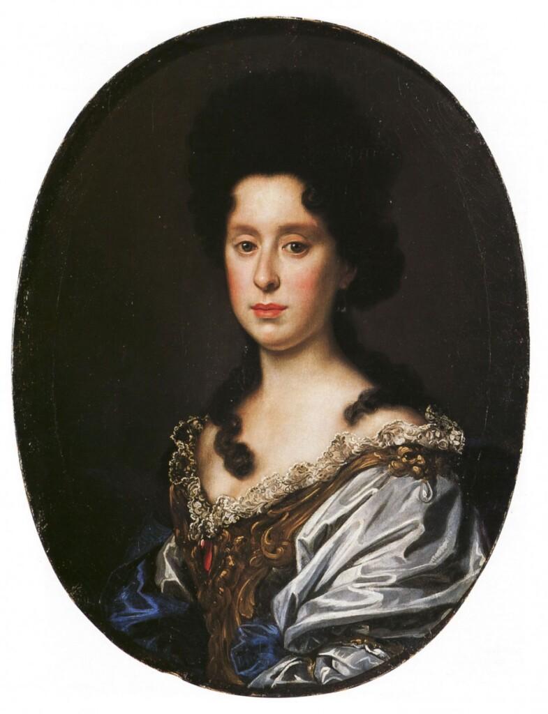 Portret Anny Marii Luizy de' Medici pędzla Antonia Franchi (1689–1691)
