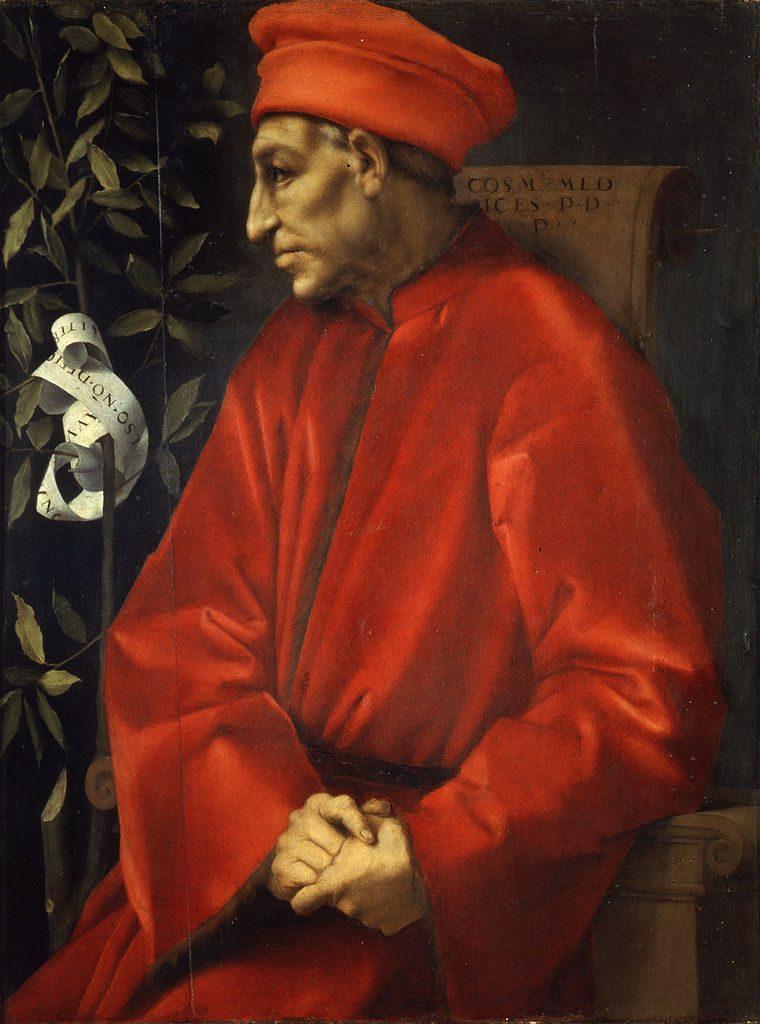 Pośmiertny portret Kosmy Starszego pędzla Jacopa Pontorma (przełom XV iXVI wieku).