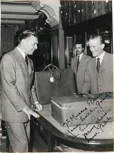 Clark Gable wsklepie Gucci, fot. via Pinterest