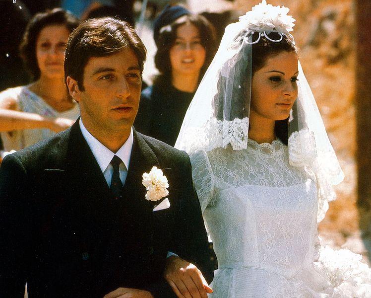 """Al Pacino iSimonetta Stefanelli wfilmie """"Ojciec chrzestny"""""""