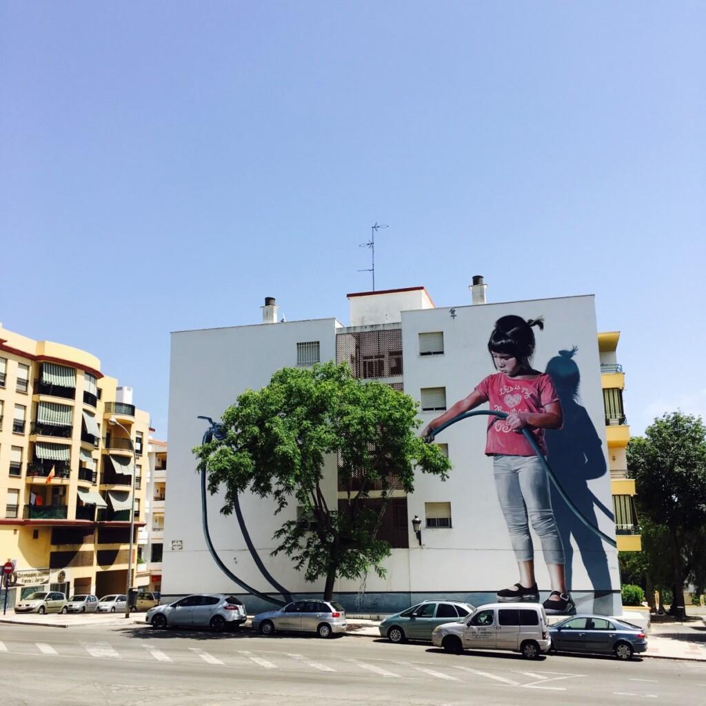 Regando el Jardin (Podlewając ogród) – kolejne malowidło Jose Fernandeza Riosa.