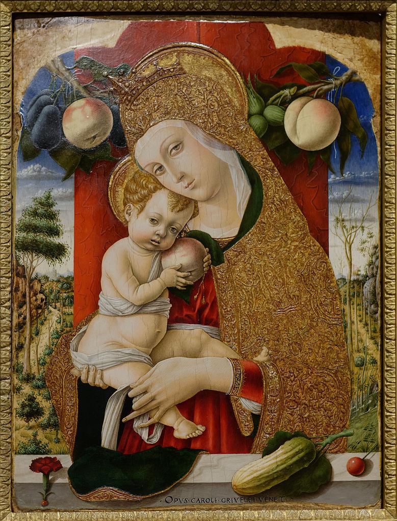 Carlo Crivelli, Madonna zDzieciątkiem, ok. 1480 r., kolekcja Guglielma Lochis