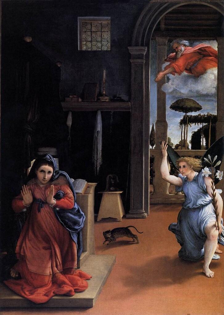 Lorenzo Lotto, Zwiastowanie, 1534 r.