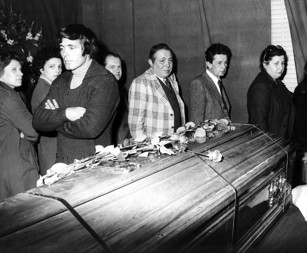 Pogrzeb Pasoliniego w1975 r.