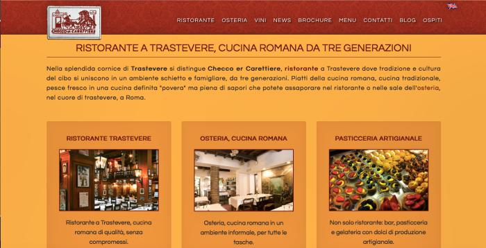 Zrzut ekranu ze strony restauracji: www.checcoercarettiere.it