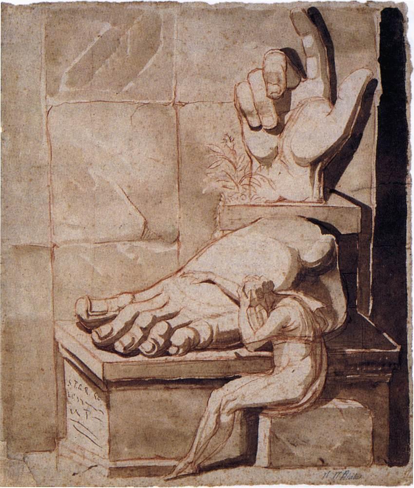 Johann Heinrich Füssli Artysta porażony ogromem starożytnych ruin, 1778–1779, Mediolan, Civica Raccolta Stampe Bertarelli
