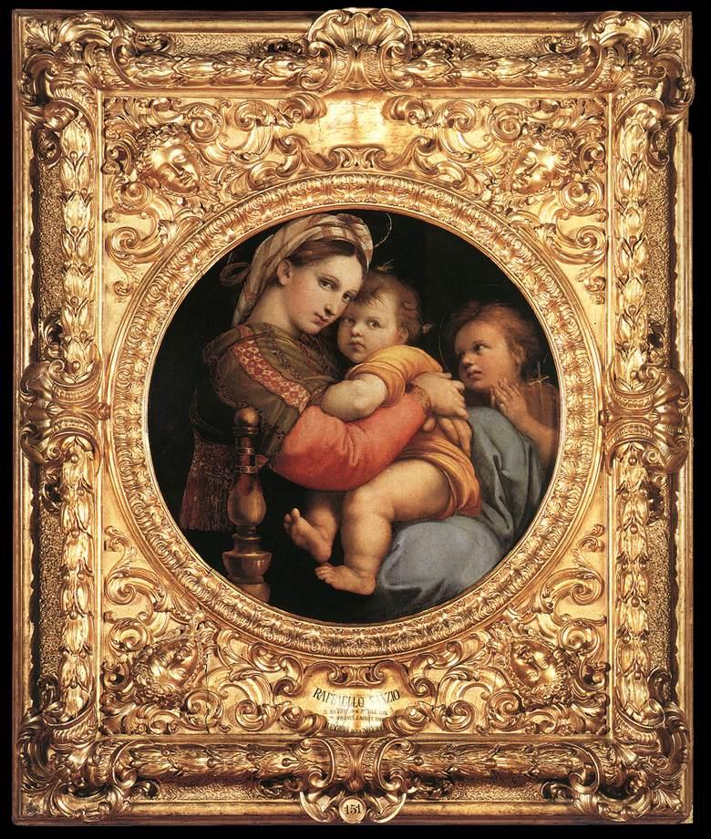 Madonna della Sedia (Madona della Seggiola) czyli Madonna na krześle (R. Santi)