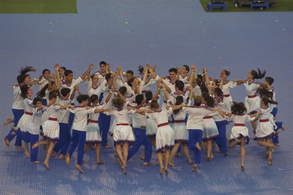 Hora na otwarciu 16. Olimpiady Machabejskiej wJerozolimie, fot. Ohayon Avi