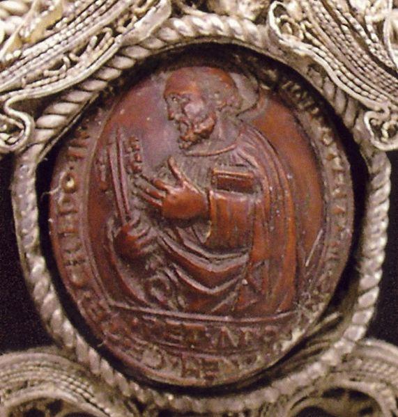 Święty Piotr wpestce brzoskwini