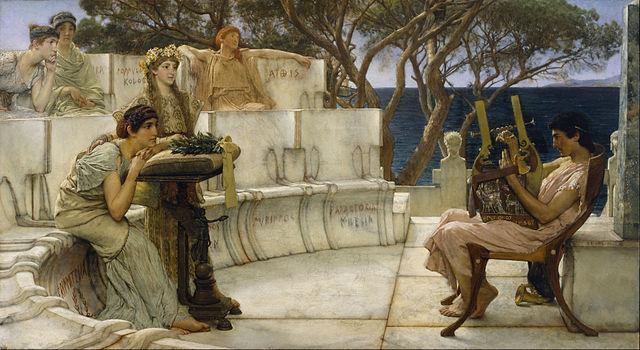 Lawrence Alma-Tadema, Safo iAlceus, 1881