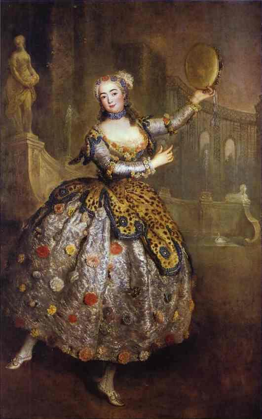 Barbara Campanini na obrazie pędzla Antoine'a Pesne, 1745