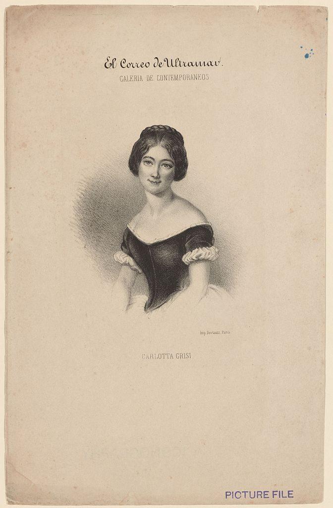 Carlotta Grisi na portrecie ze zbiorów New York Public Library