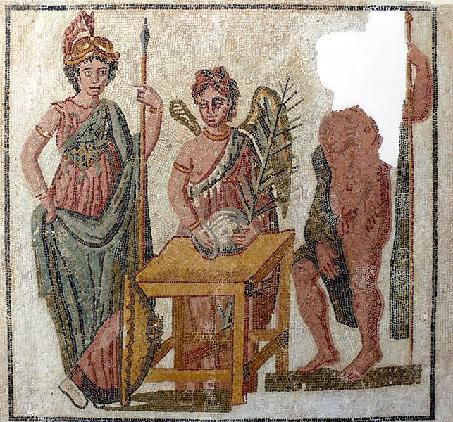 Rzymska mozaika zTunezji, dMeskens / Wikimedia Commons