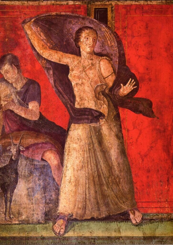 Fragment malowidła zWilli Misteriów
