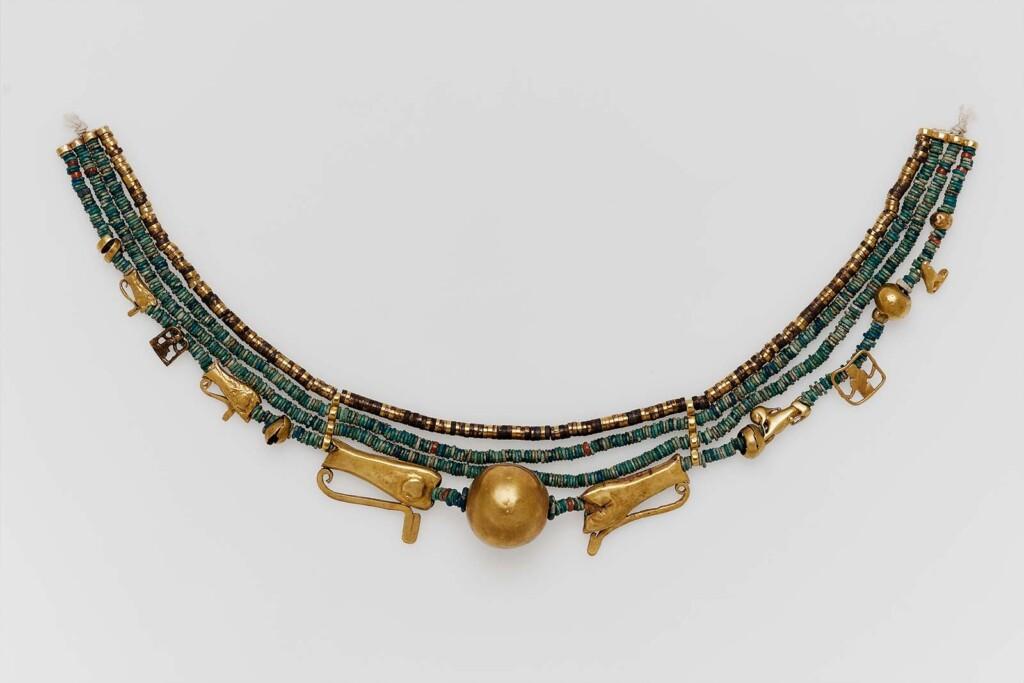Naszyjnik zamuletami, Średnie Państwo, Dynastia 11–13, 2061–1640 p.n.e., Museum of Fine Arts of Boston
