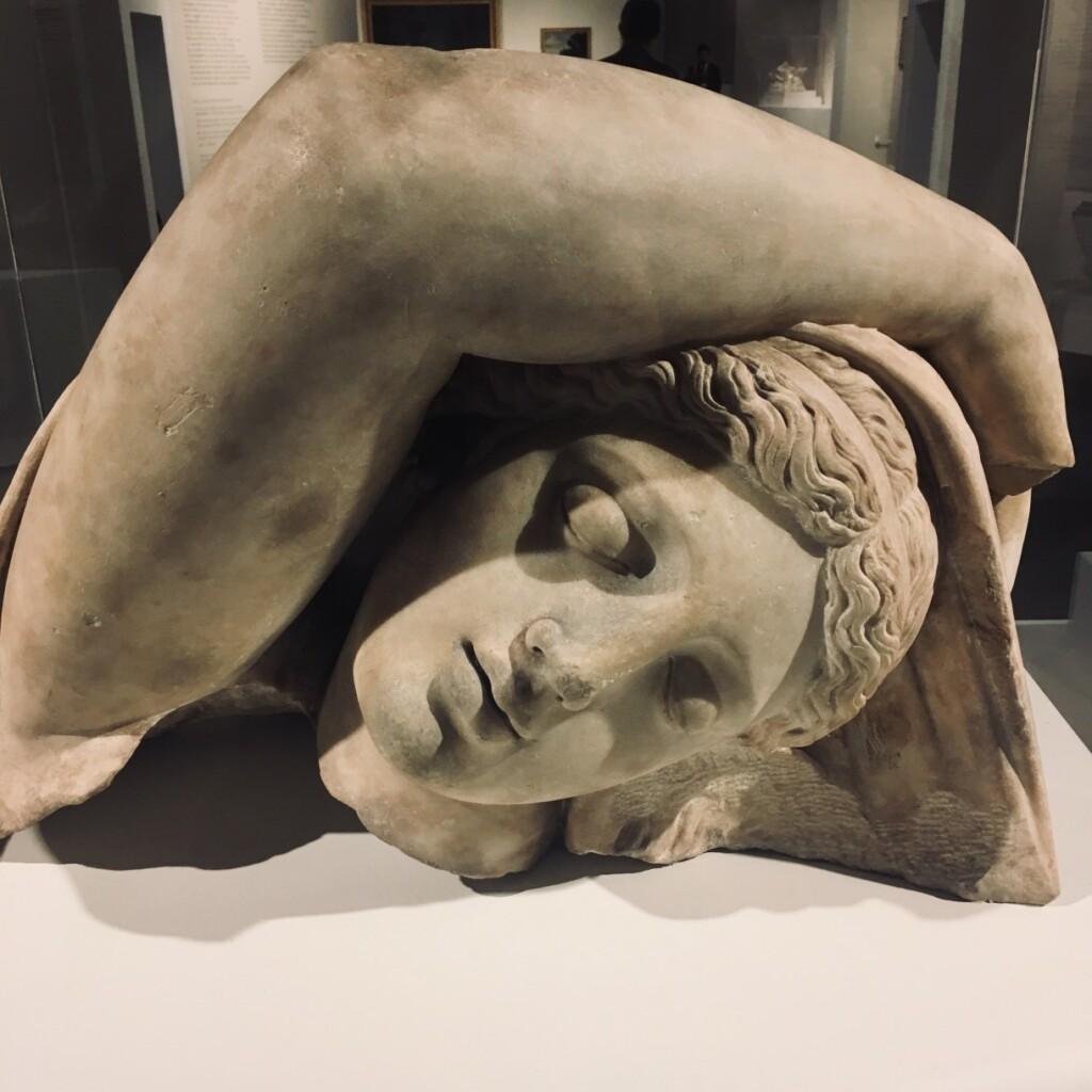 Głowa śpiącej Ariadny, kopia posągu rzymskiego, przed 1598