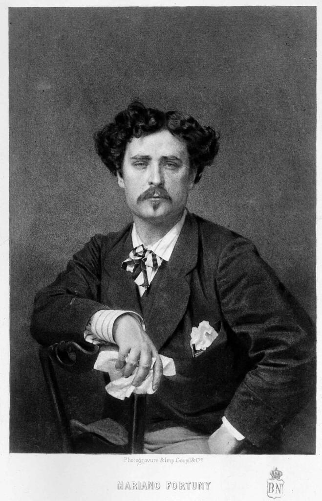 Portret M. Fortuny (Goupil & Cie, Paryż 1875, Hiszpańska Biblioteka Narodowa)