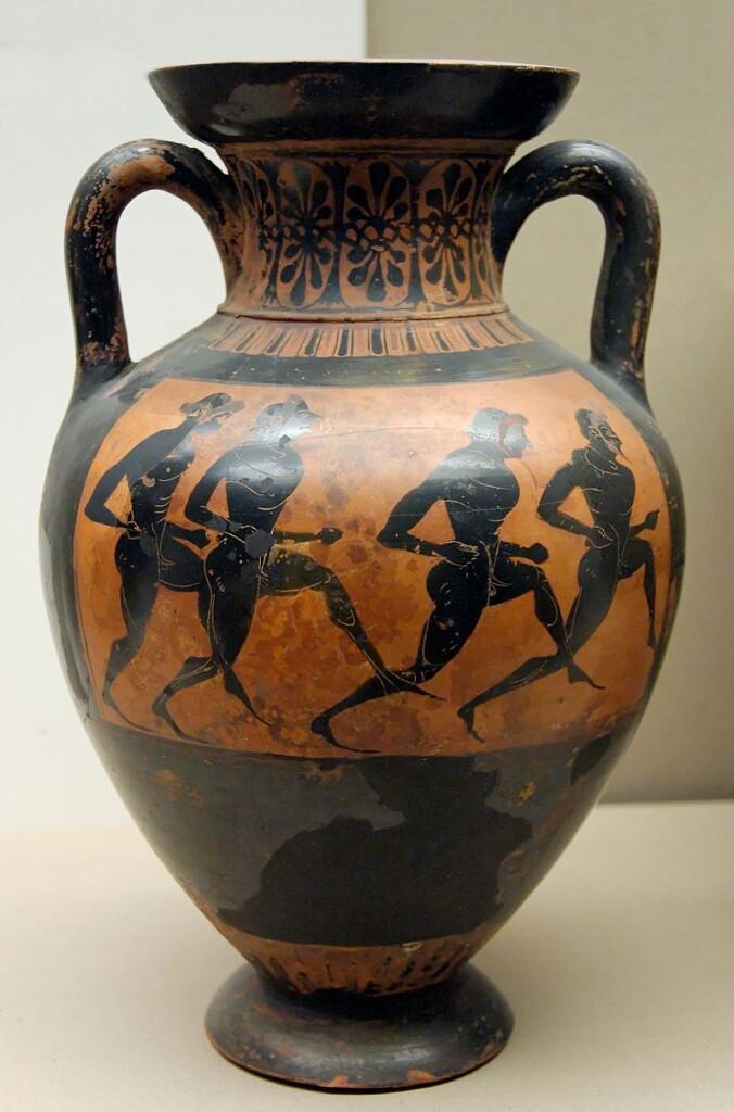 Biegacze, amfora panatenajska z530–520 p.n.e., zbiory British Museum