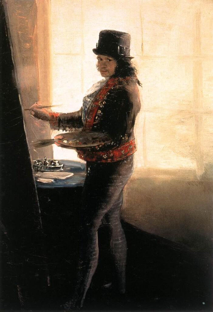 Francisco Goya, Autoportret wpracowni