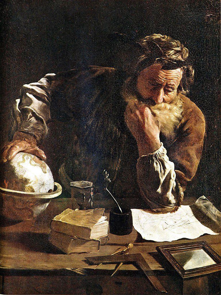Archimedes widziany oczami Domenica Fetti (1620)