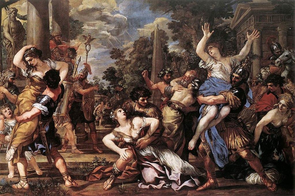 Porwanie Sabinek widziane oczami Pietra da Cortona (ok. 1627)