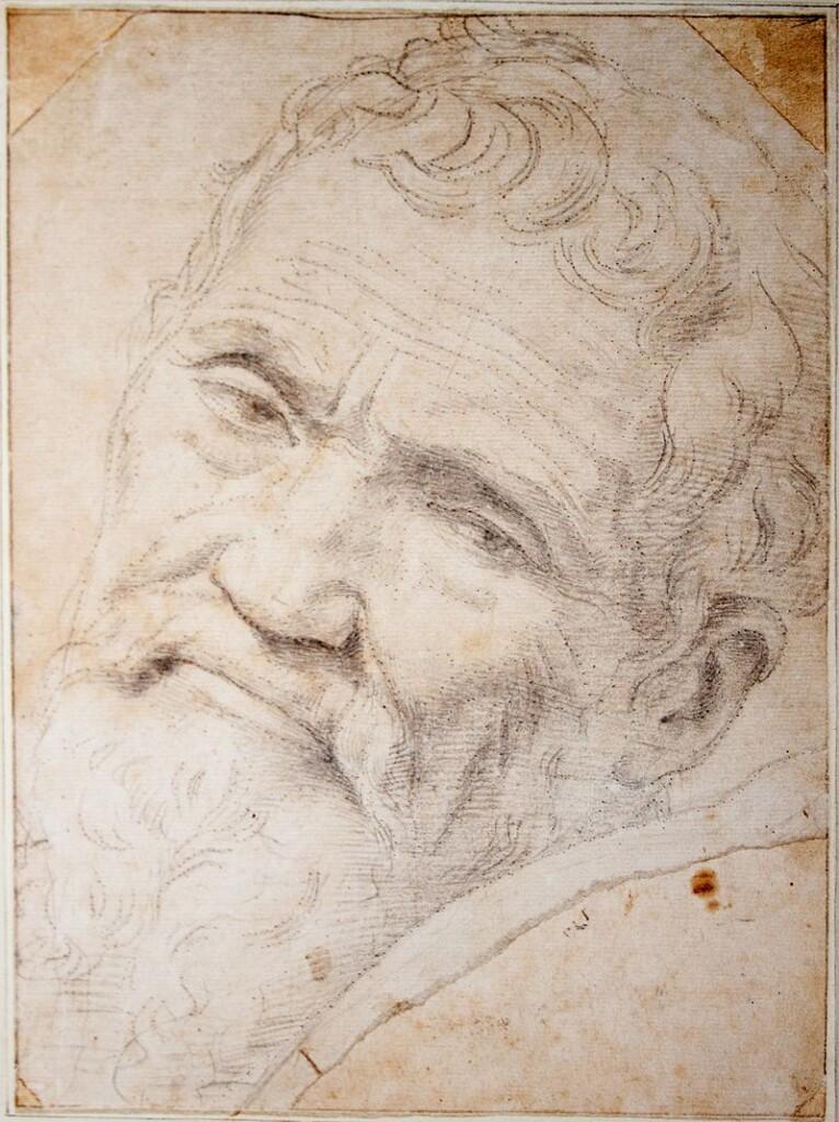 Portret Michelangela stworzony przez Daniela da Volterra (ok. 1550)