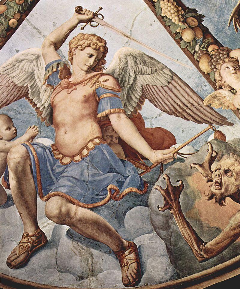 Archanioł Michał na fresku Bronzina