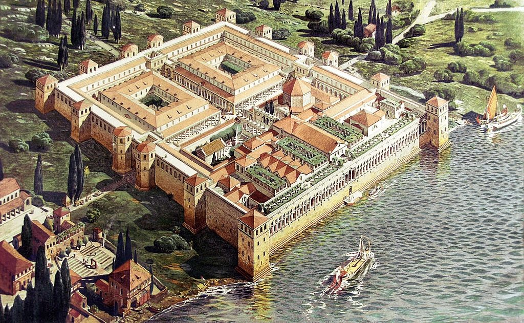 Pałac wSplicie –rekonstrukcja z1912 roku (autor: Ernest Hébrard)