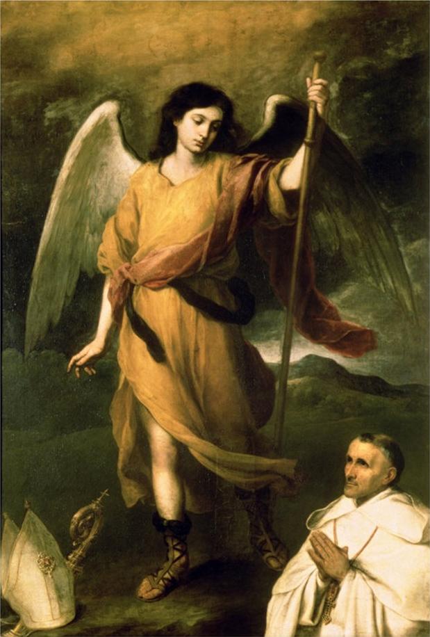Archanioł Rafał widziany przez Bartolomé Estebana Murilla