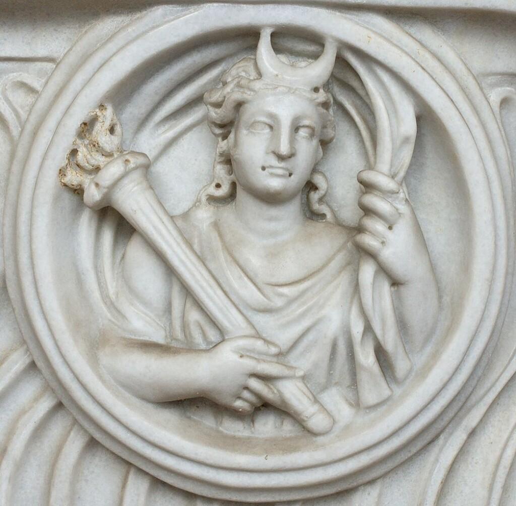 Wizerunek Selene wrzymskich Termach Dioklecjana