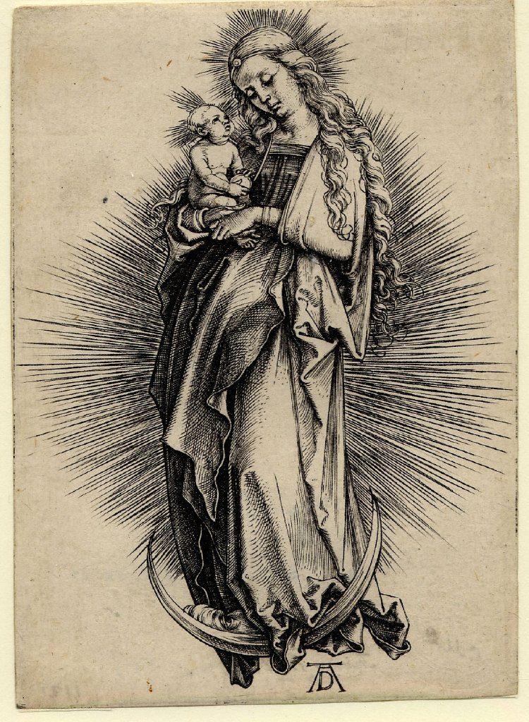 Matka Boska widziana oczami Durera (ze zbiorów British Museum)