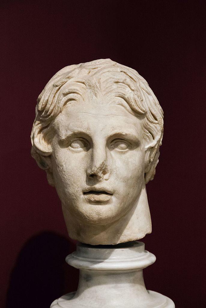 Portret Aleksandra wMuzeum Archeologicznym wStambule, fot,