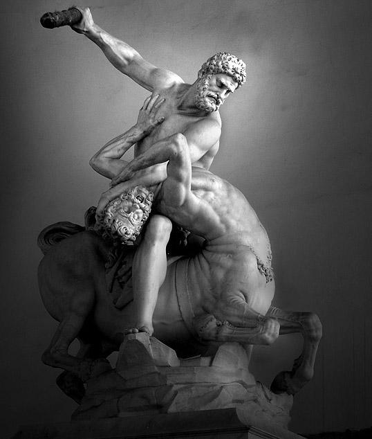 Hercules beating Nessus, Loggia dei Lanzi, FlorenceItaly.