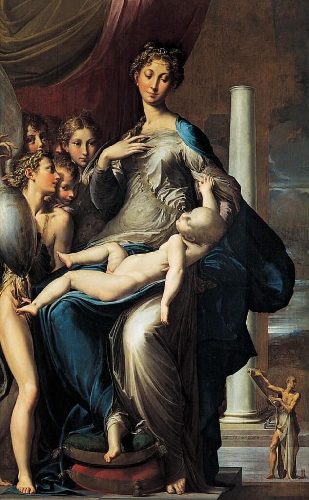 Parmigianino, Madonna dal collo lungo (1534-39), Firenze, Galleria degli Uffizi