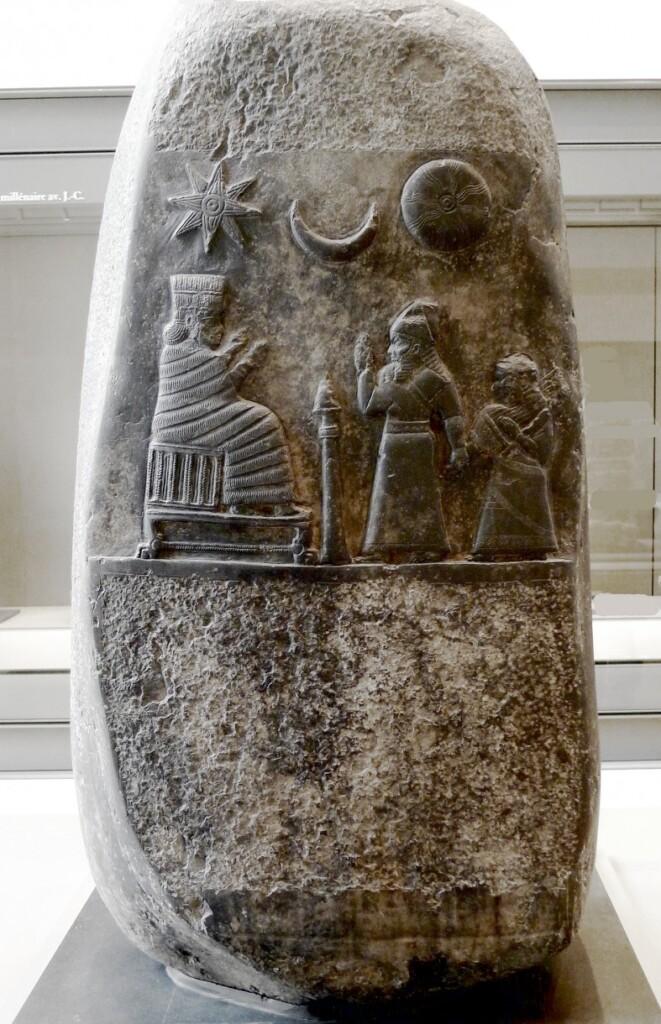Kudurru (kamień graniczny) babilońskiego króla Meliszipaka II (1188-1174 p.n.e.), Luwr