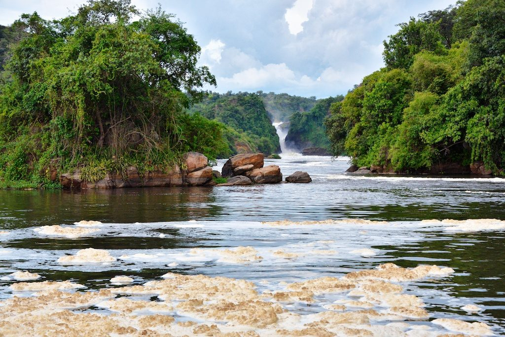 Wodospad Murchisona na Nilu białym wUgandzie