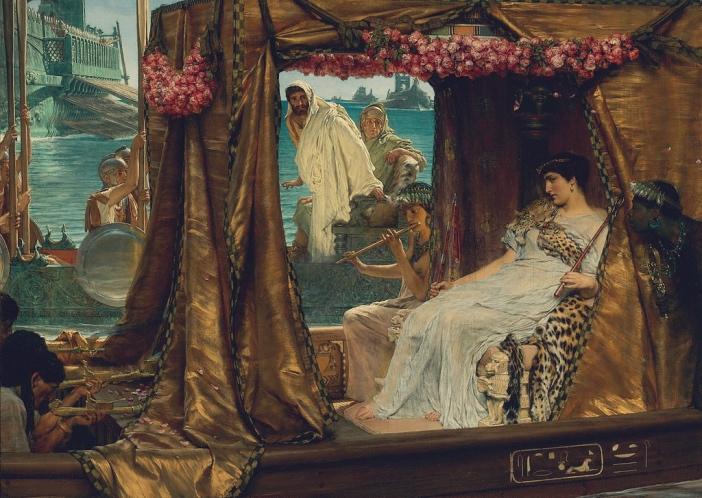 Lawrence Alma-Tadema, Spotkanie Antoniusza iKleopatry (1885)