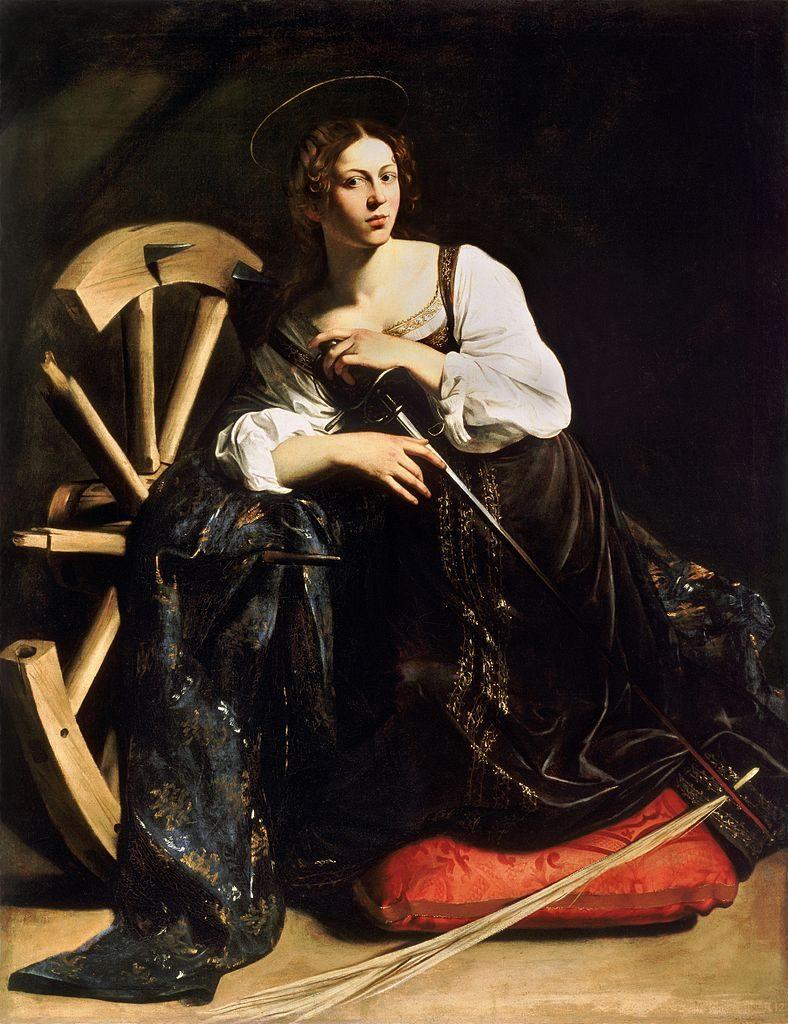 Katarzyna Aleksandryjska widziana oczami Caravaggia